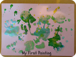 baby's 1st painting