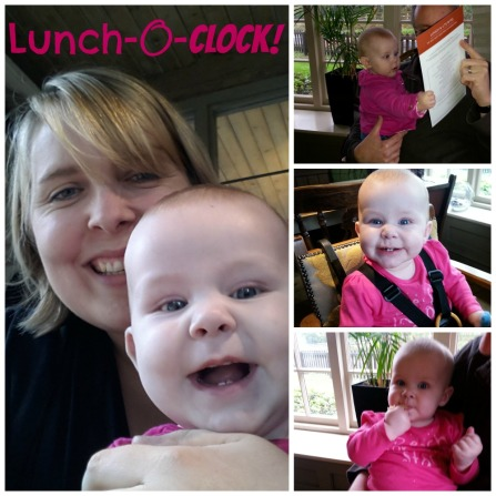 Baby at lunch