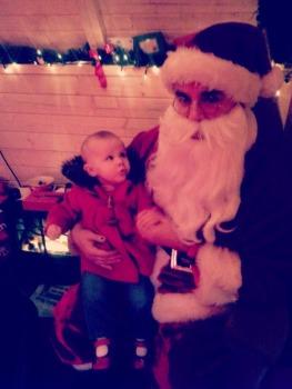 Baby with Santa